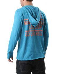 Camiseta Sergio K. Manga Longa Masculina Azul Claro
