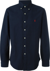Camisa Social Polo Ralph Lauren Masculina Oxford Azul Marinho