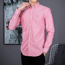 Camisa Social Polo Ralph Lauren Masculina Oxford Vermelha