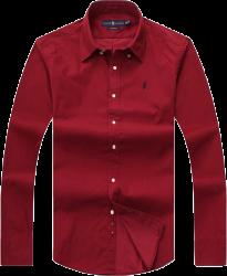 Camisa Social Polo Ralph Lauren Masculina Oxford Vinho