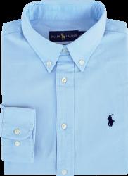 Camisa Social Polo Ralph Lauren Masculina Oxford Azul Claro