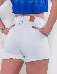 Shorts Jeans Revanche Feminino Branco
