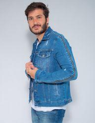 Jaqueta Jeans Confort Revanche Masculina Azul