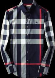 Camisa Social Burberry Masculina Azul Marinho