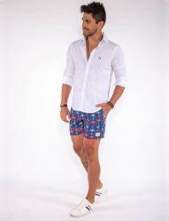 Shorts D'Água Marinheiro Revanche Masculino Azul Escuro