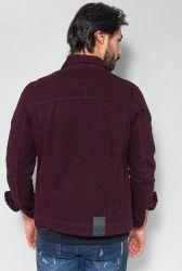 Jaqueta Jeans Confort Revanche Masculina Bordô