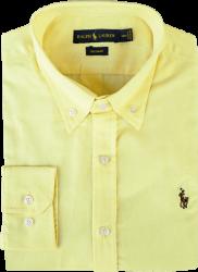 Camisa Social Polo Ralph Lauren Masculina Oxford Amarela