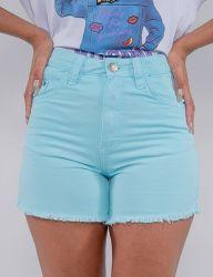 Shorts Jeans Revanche Feminino Verde Claro