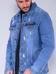 Jaqueta Jeans Revanche Masculina Azul