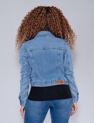 Jaqueta Jeans Revanche Feminina Azul Claro