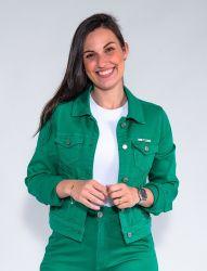 Jaqueta Jeans Revanche Feminina Verde