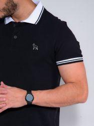 Camisa Polo Revanche Masculina Preta