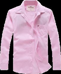 Camisa Social Hollister Masculina Rosa