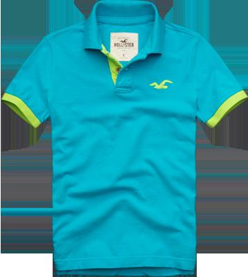 6c47d9403 Camisa Polo Hollister Masculina Azul Claro - ESTILUXO Outlet Virtual ...